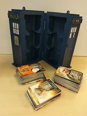 200+ Doctor Who Battles in Time Playing Cards with Tardis (missing lid)