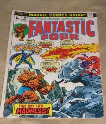 Fantastic Four 138 # 1973 Madness Is The Miracle Man And Only 99P