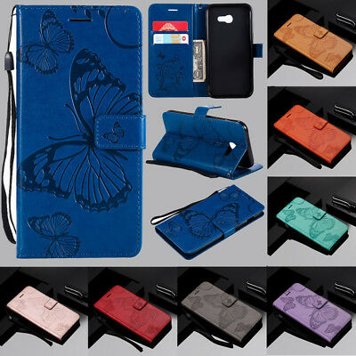 For Samsung Galaxy A5 2017 A3 A6 A8 Magnetic Flip Card Wallet Leather Case Cover