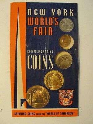 New York 1939-40 Worlds Fair Souvenir***5 Coins In Original Packageing
