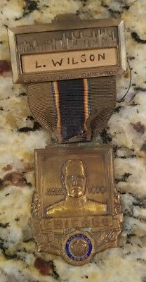 1939 American Legion National Convention Medal Chicago Gen Pershing -