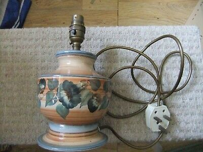 Vintage Table Lamp Jersey Pottery