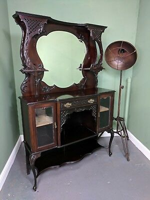 An Antique Late Victorian Mirrored Chiffonier Sideboard Dresser~Delivery Availab