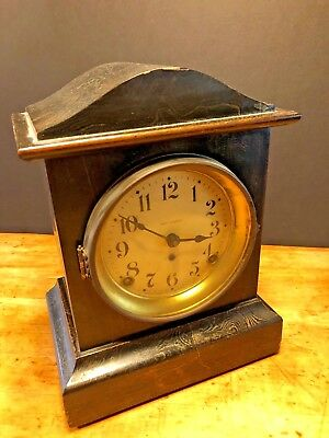 Antique Seth Thomas Adamantine Shelf Clock Mantel Clock Original RARE Mantle