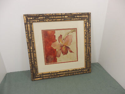 "Kohl's Images Blum Chino Wall Art Matted Flower Picture w/Metal Frame 15""x15"""