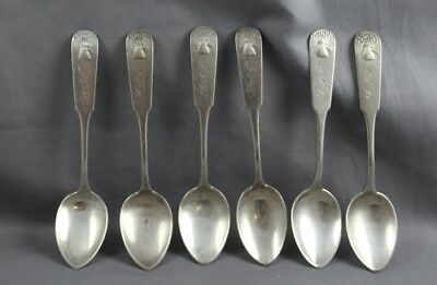 Sterling Silver set/6 Demitasse Spoons Sheaf of Wheat D. Greenleaf & Co Not Coin