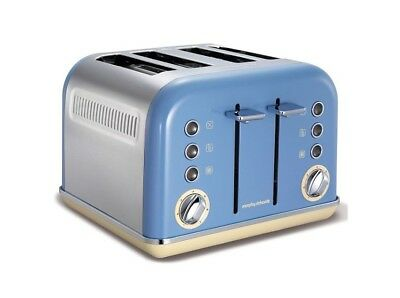 Morphy Richards 242007 Accents 4 Slice Toaster Cornflower Blue 2 Year Guarantee