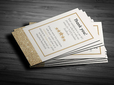 50 Professional Golden Thank You Cards Ebay Etsy Business 5 star Seller Feedback