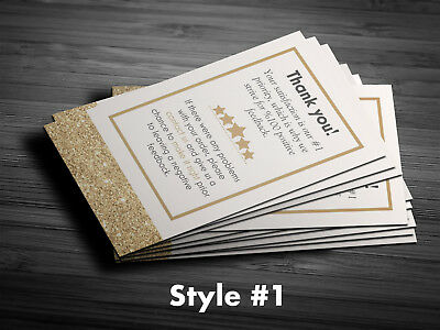 1,000 Professional Thank You Business Cards 5 Star Seller  * Custom Text Only *