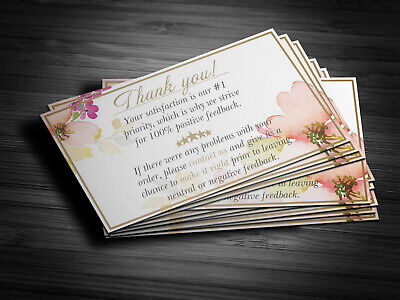 500 Professional Thank You Cards Ebay Poshmark Etsy 5 Star Seller Feedback
