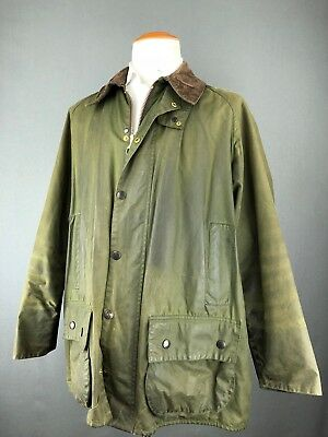 $399 Barbour Beaufort Olive Green Waxed Cotton Jacket Mens Coat A150 England 48