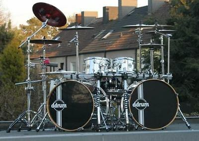 """ddrum"" Set chrom 2x22"" BD, 10"",12""TT,14"",16""FT, inkl. Rack, ohne Becken!"
