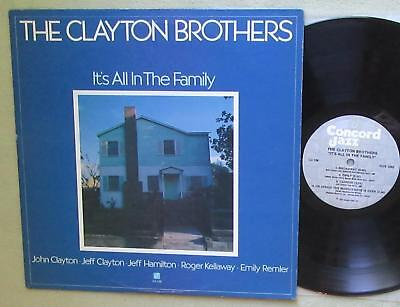 THE CLAYTON BROTHERS, It's All In The Family, Concord Jazz Vinyl LP 1981