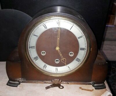 Smiths Vintage Westminster Chime Mantle Clock.G.W.O.