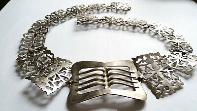 Antique Victorian Silver Plated EPNS Belt