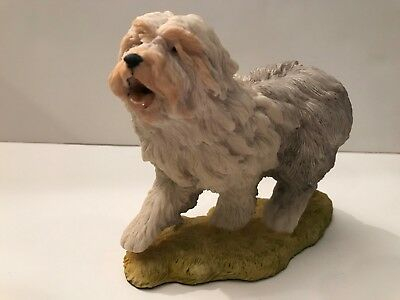 Natures Heritage Holland Studio Craft Old English Sheepdog Figurine Hand-Painted