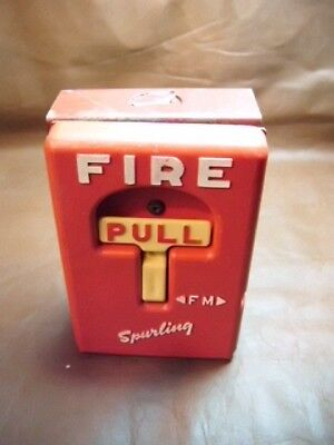 Vintage Gamewell Fire Alarm Station Pull Down Handle Box Phone