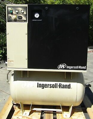 Ingersoll Rand 5 HP Rotary Screw Air Compressor with Tank UP6-5-125 460V 3 Phase