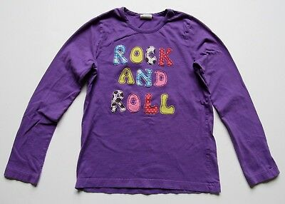 Mini Boden Girl's Purple Long Sleeve Rock And Roll Long Sleeve Tee T Shirt 12-14