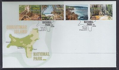 CHRISTMAS ISLAND 2014 Seacliffs Set on FDC