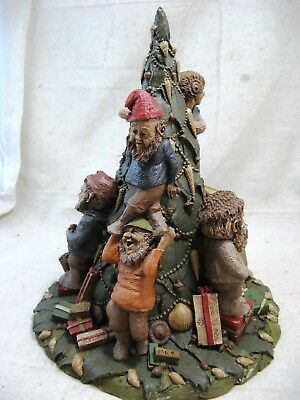 """Tom Clark Gnomes 'Twas The Night Before Christmas 1986 Edition #43 Signed 12"""""""