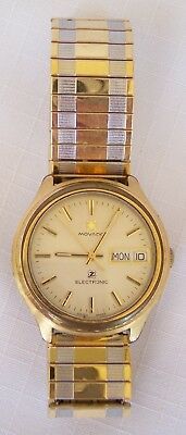 Vintage Swiss Made Movado Electronic Day Date Calendar Men's Watch