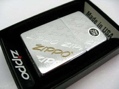 Zippo Full Size Brushed Chrome Script Classic Windproof Lighter 28642