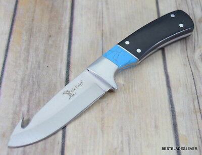 Elk Ridge Fixed Blade Full Tang Hunting Skinning Knife With Gut Hook & Sheath