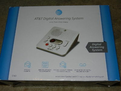 New AT&T Digital Answering System 1740 answer machine at & t att1740 no phone