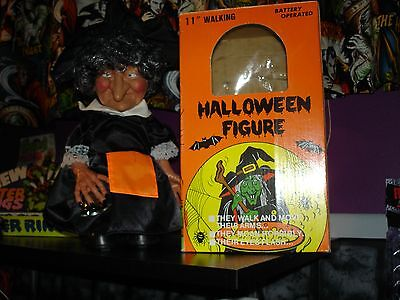 Vintage 1989 Sancho Walking Witch Monster Motionette Box Halloween Prop VIDEO