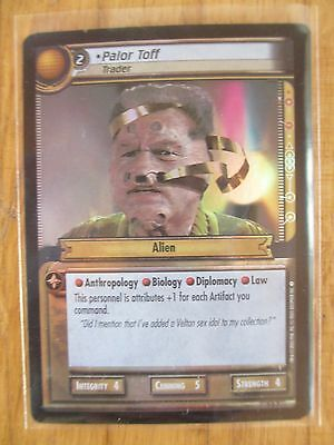 PALOR TOFF TRADER 0D7 - PROMO FOIL Card - Star Trek 2nd Edition CCG ST game