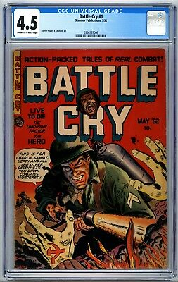 Battle Cry #1 CGC 4.5 1952 Impossible to Find Stanmor Publications