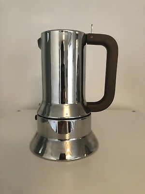 Alessi Richard Sapper 9090 Espresso coffee maker - 6 cups. £130 New - Stainless