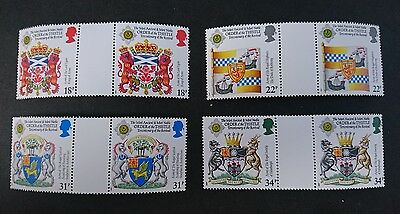 Gb Um Commemorative Stamp Gutter Pairs - Order Of The Thistle - 21.7.87
