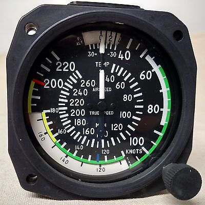 True Airspeed Indicator 40- 220 Knots/40-260 MPH - Lighted