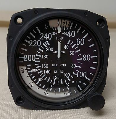 True Airspeed Indicator 40-240 MPH/40-210 Knots