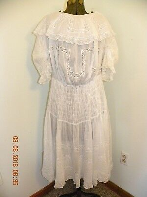 Lot Antique Victorian clothing 4 pieces Womans, Girls & Child Dressing Gowns