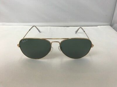 Ray Ban RB3025 Aviator 001/51Green Lens Gold Frame 62mm Polarized