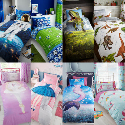 Children Boys Girls Duvet Sets / Fitted Sheets/Complete Bedding Set Sizes Single
