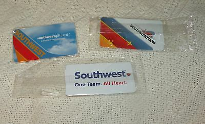 Southwest Airlines Lot Of 3  Luggage Tags Nwot Boeing 737 One Team All Heart