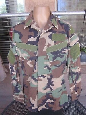 US Navy SEAL Worn BDU Modified Pockets Camouflage Combat Shirt