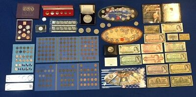 Huge Canada & US & World Coin & Banknote Estate Lot. Incl. Nice Penny Collection