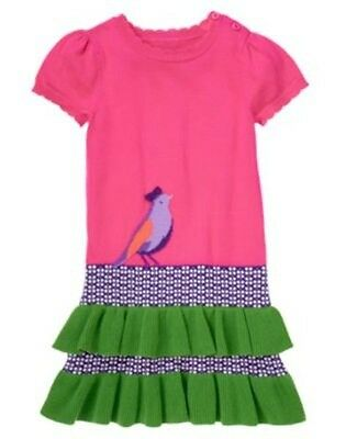 NWT Gymboree Falling for Feathers SZ 5 Sweater Ruffle Dress Girls