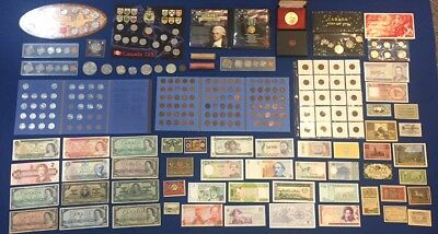 Huge Canada & US & World Coin & Banknote Estate Lot. Incl. 1937 $100 & More!