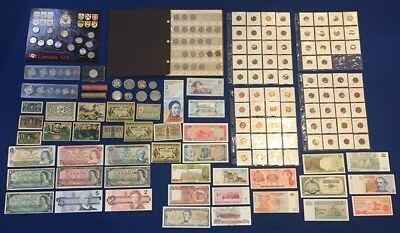 Huge Canada & US & World Coin & Banknote Estate Lot. Incl. Nice 5 C. Collection