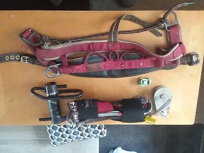 used weaver harness, gecko spikes and gear