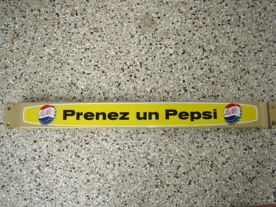 Vintage Pepsi-Cola Push Bar - Door Push Sign  PRENEZ UN PEPSI