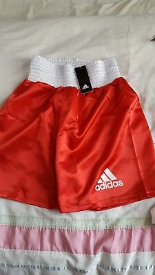 Red Adidas Boxing Shorts Size Xs New