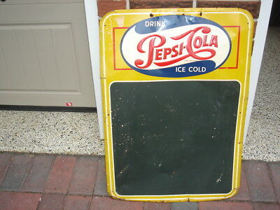 Vintage Pepsi-Cola Chalkboard Sign Single dot