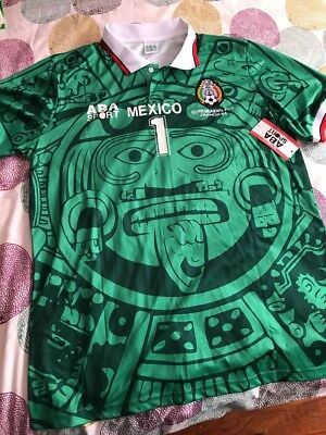 a3948106d MEXICO SOCCER JERSEY. Jorge Campos  1. Aba sport. New With Tags ...